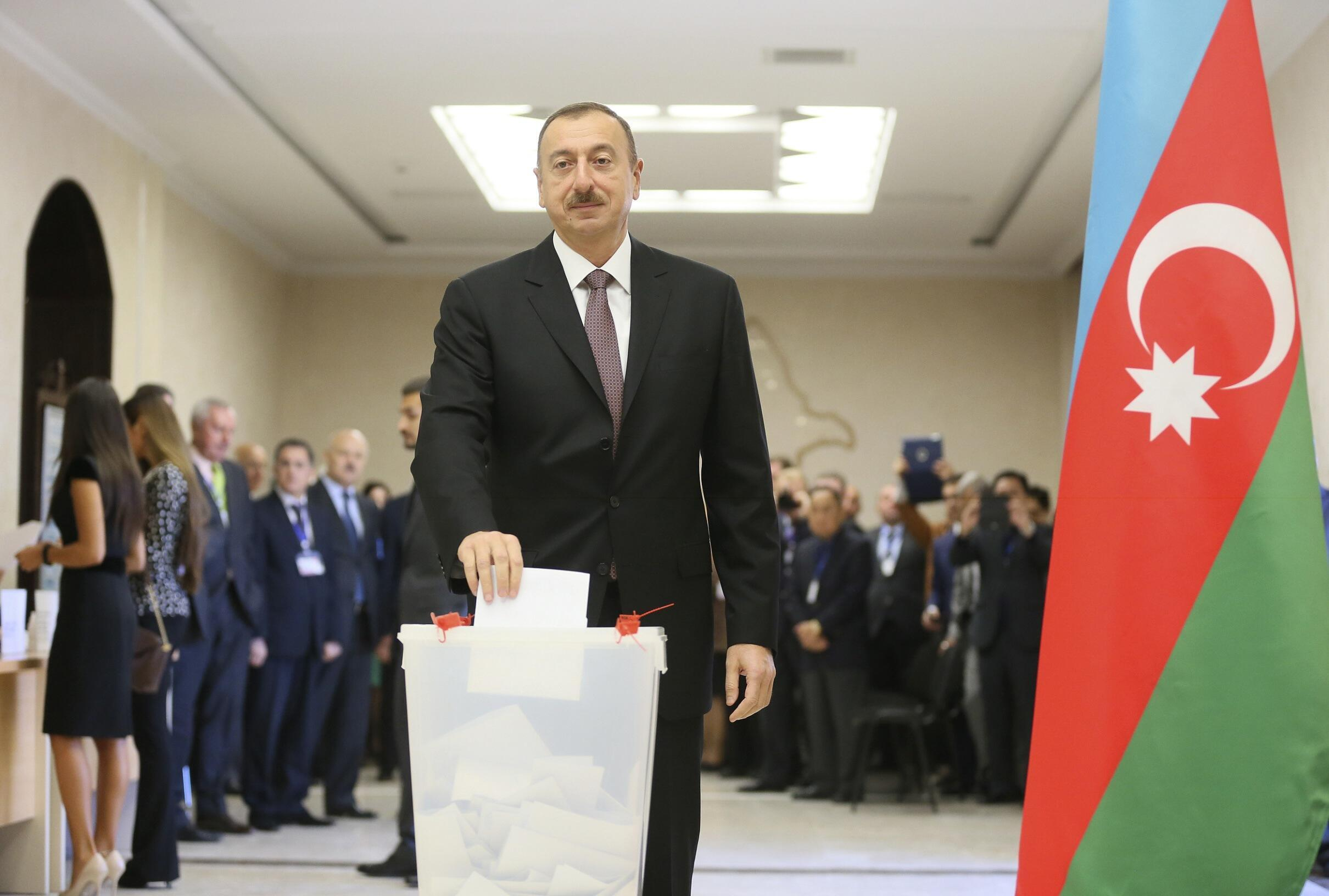 Azerbaijani President Ilham Aliyev.