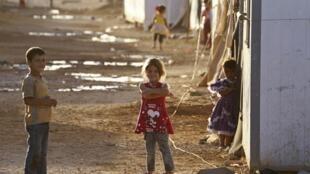 Des enfants syriens dans le camp de réfugiés al-Zaatari en Jordanie.