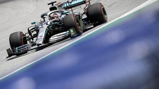 That was then: Lewis Hamilton in his Mercedes at last year's Austrian Grand Prix