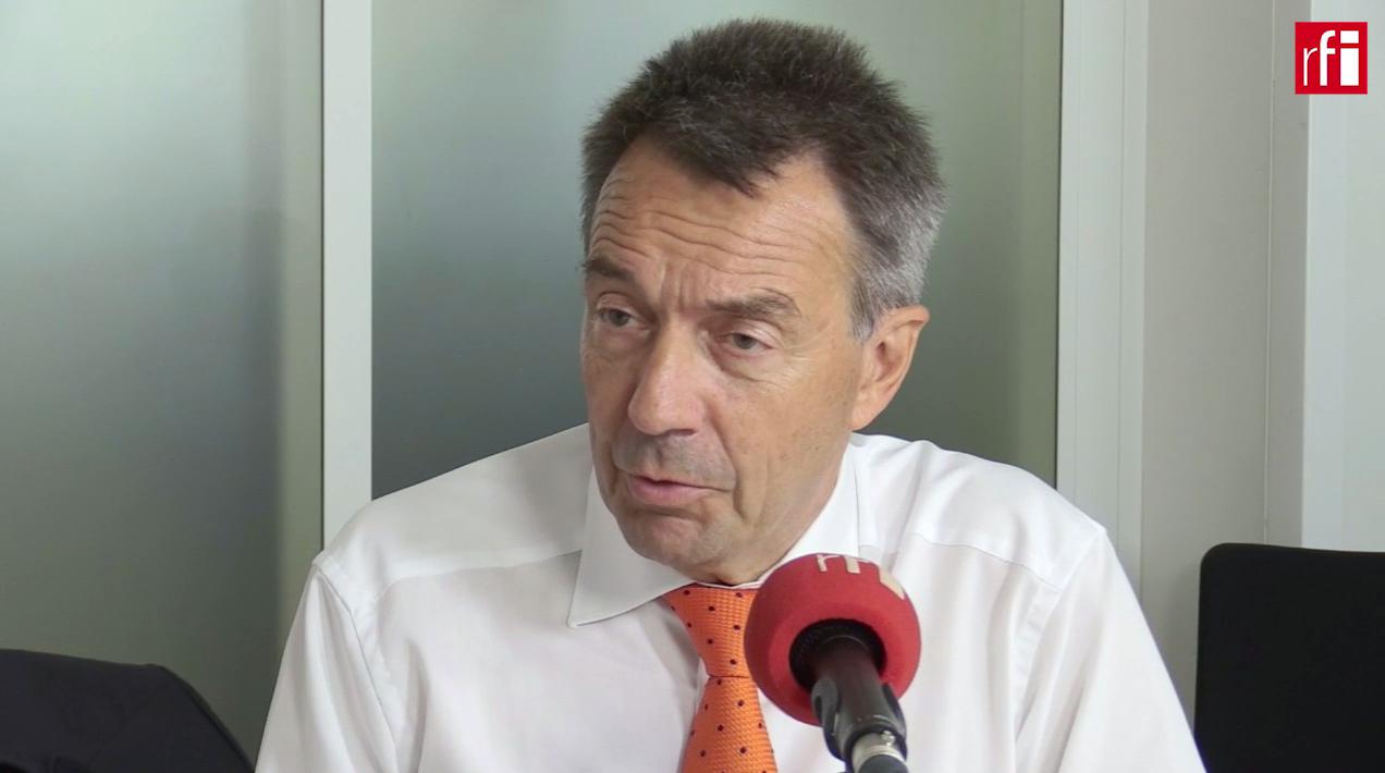 Глава МККК Петер Маурер в студии RFI, 30 августа 2017 года.