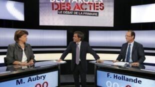 François Hollande da Martine Aubry, 'yan takarar neman kujerar shugaban kasa karkashin Jam'iyyar Gurguzu