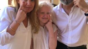 Los profesores de Beatriz participan en la campaña 'Miro por el albinismo', junio de 2016.