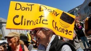 Des manifestants lors de la «marche pour le climat» à San Francisco, le 8 septembre 2018.