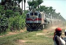 Locomotora da linha do Caminho de Ferro de Benguela, cujos trabalhadores  encetaram a 1 de Julho  de 2021uma greve de seis dias, para reclamar um aumento de salário.