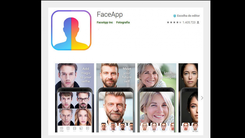 Aplicativo FaceApp, que cria efeitos de envelhecimento no rosto dos usuários, virou febre no mundo inteiro.
