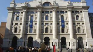 La Bolsa de Milán en el Palazzo Mezzanotte.