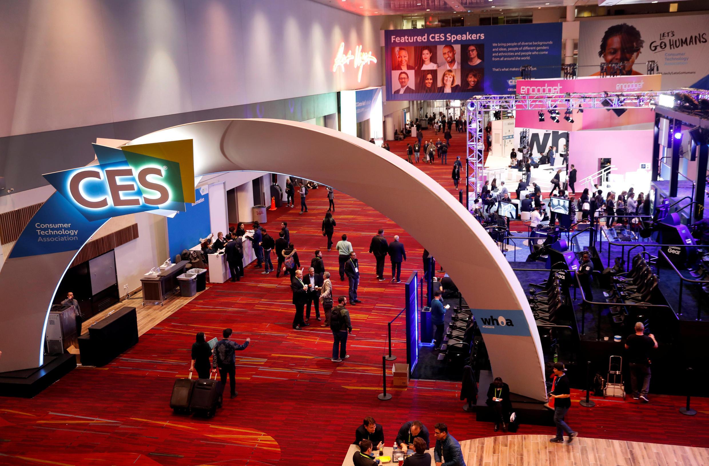 Centro de Convenções de Las Vegas onde acontece a feira CES, Consumer Eletronics Show de 2018 em Las Vegas, Nevada, EUA, 8 de janeiro de 2018.