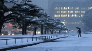 雪中的东京。