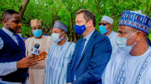 Gwamnonin jihohin Sokoto Zamfara da Katsina yayin ganawarsu da jakadan kungiyar EU Ketil Karlsen.