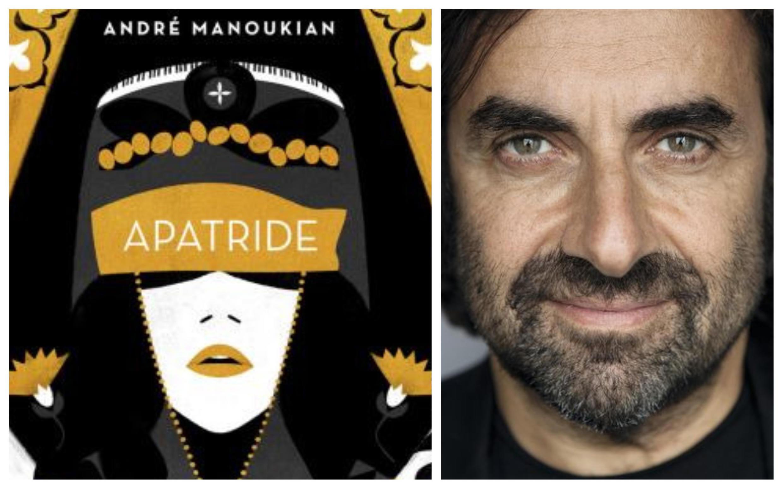 A gauche, nouvel album «Apatride», d'André Manoukian; à droite, portrait d'André Manoukian.