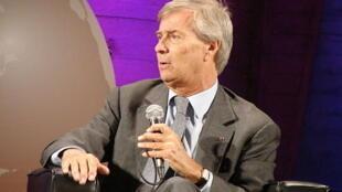 Vincent Bolloré, en juin 2013, lors de la Global Conference de l'Unesco.
