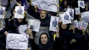 تهران - تبلیغات انتخاباتی برای حسن زمانی از فهرست صدای ملت