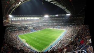 Le stade Santiago-Bernabéu à Madrid.