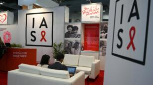 La 10e International AIDS Society (IAS) Conference à Mexico, le 22 juillet 2019.