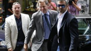 El representante del FMI Poul Thomsen llegando al Ministerio de Finanzas griego, este 2 de agosto de 2012.