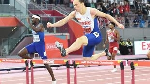 Karsten Warholm is the fourth man to retain a 400 metres hurdles title in the 36 year history of the word championships.