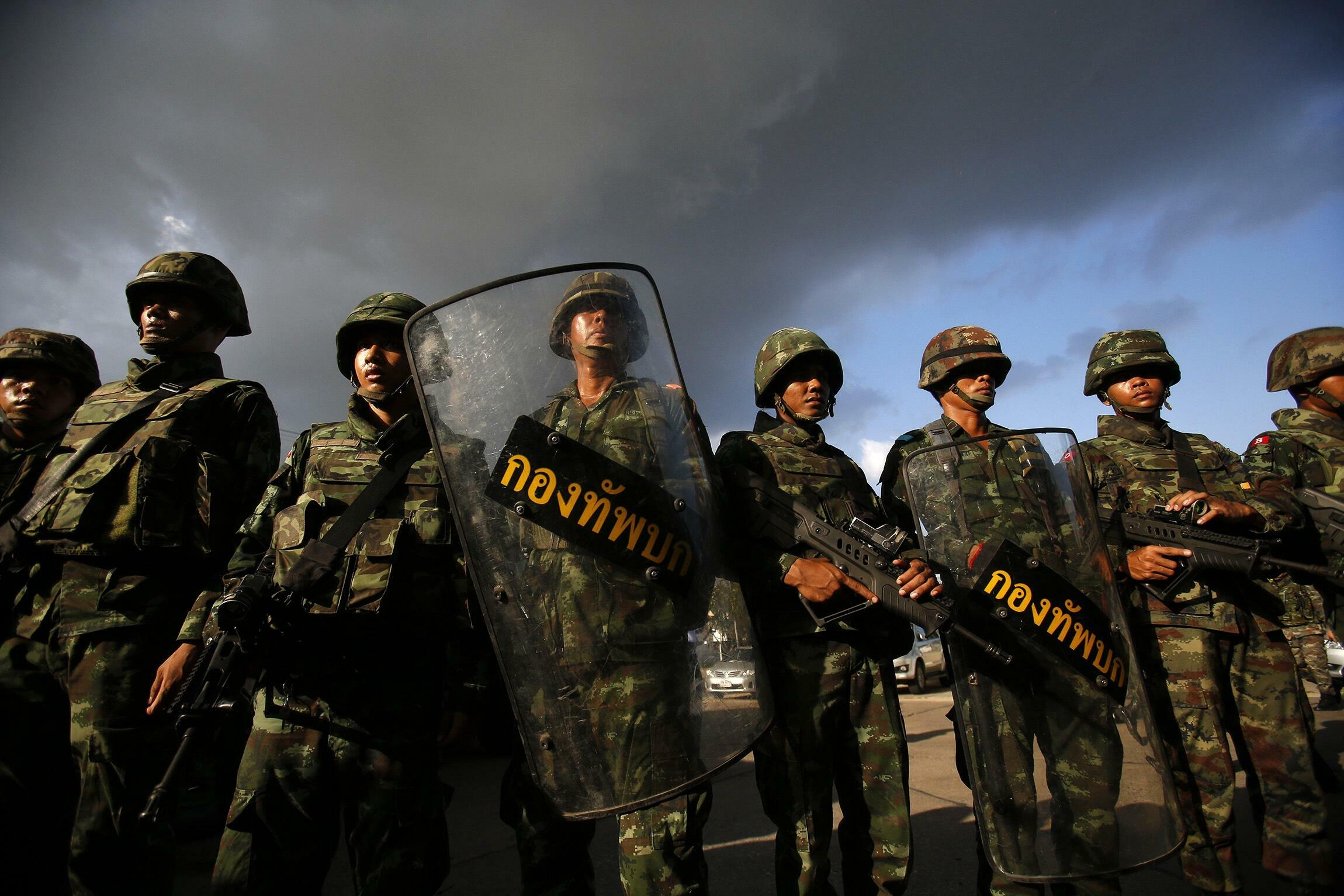 Militares tailandeses en Bangkok, el 22 de mayo de 2014.