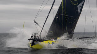 French skipper Charlie Dalin is approaching the Cape of Good Hope in the lead in his Imoca 60 monohull Apivia