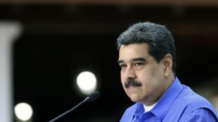 Nicolás Maduro, durante un mensaje televisado desde el palacio presidencial de Miraflores, el 22 de junio de 2020 en Caracas
