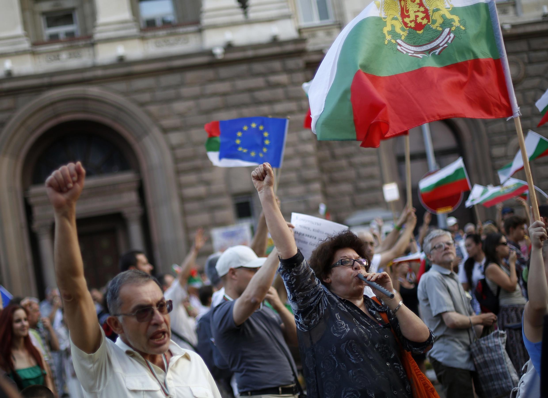 Los manifestantes piden la dimisión del Gobierno y elecciones anticipadas.