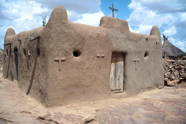 Eglise d'un village Dogon.