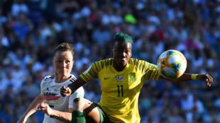 La Sud-Africaine Thembi Kgatlana (ici, lors de la Coupe du monde 2019) a rejoint Eibar, en Espagne.