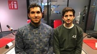 Maxime Ilambe, développeur Front end et Ronan Quéverdo, étudiant.