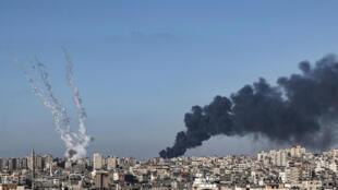 gaza israel conflit bombe missile