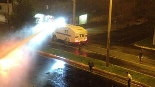 Clashes in Diyarbakir, south east Turkey after AKP election win, 1 November, 2015.