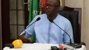 Conferência de imprensa dos 100 dias da presidência de Umaro Sissoco Embaló em Bissau a 7 de Julho de 2020.
