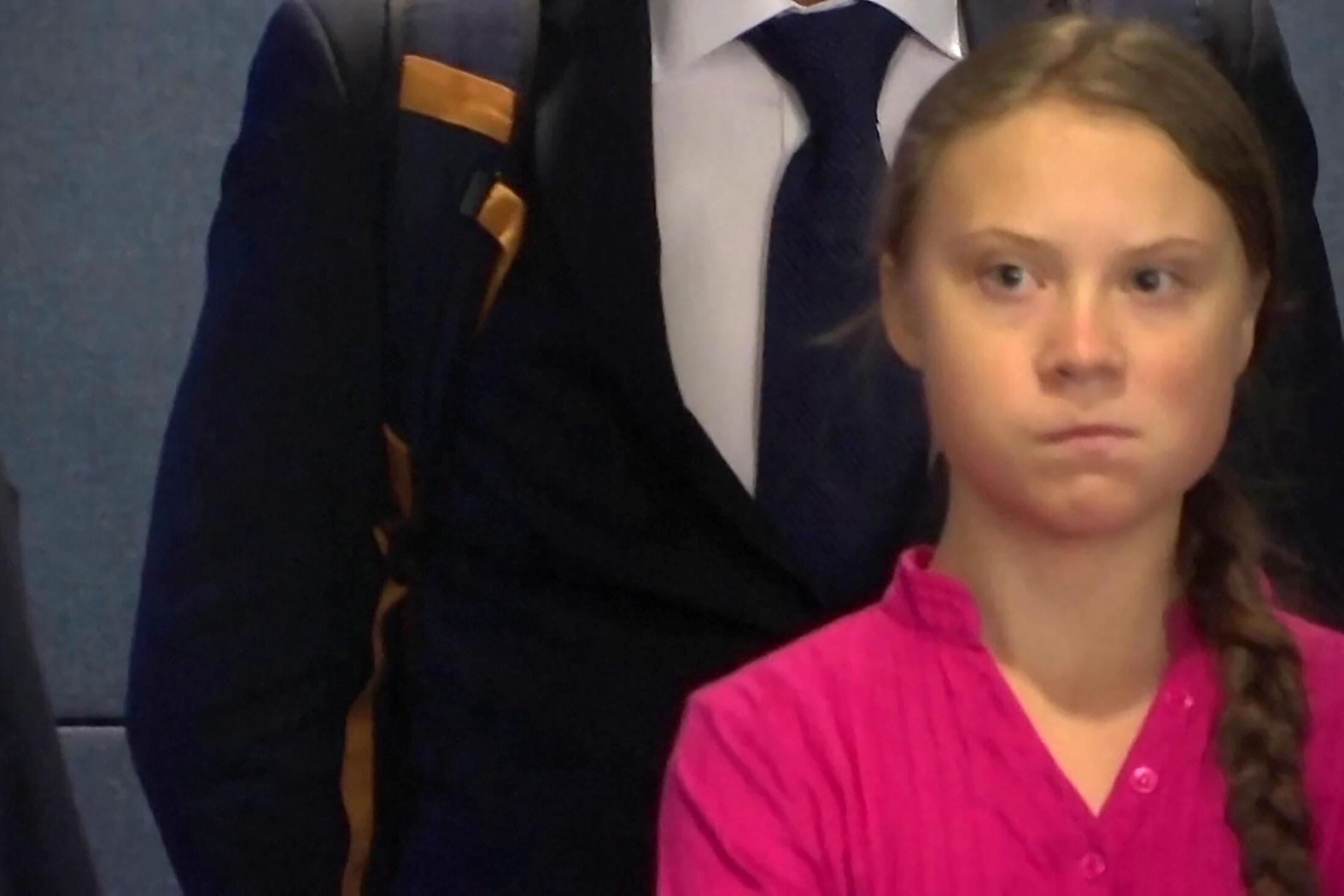 出席聯大氣候峰會的瑞典16歲中學生格蕾塔·通貝里批評國際領袖在氣候問題上沒有作為。