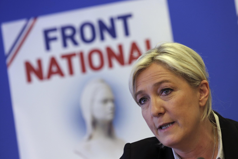 Marine Le Pen, presidente da Frente Nacional, tradicional partido de extrema-direita francês.
