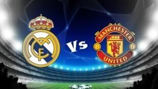 Tambarin kungiyar Real Madrid da Manchester United wadanda za su kece raini da juna a gasar Zakarun Turai.