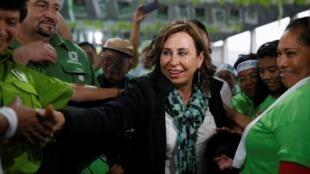 Sandra Torres, la candidate de l'Union nationale de l'espérance, grande favorite des sondages, le 9 juin 2019.