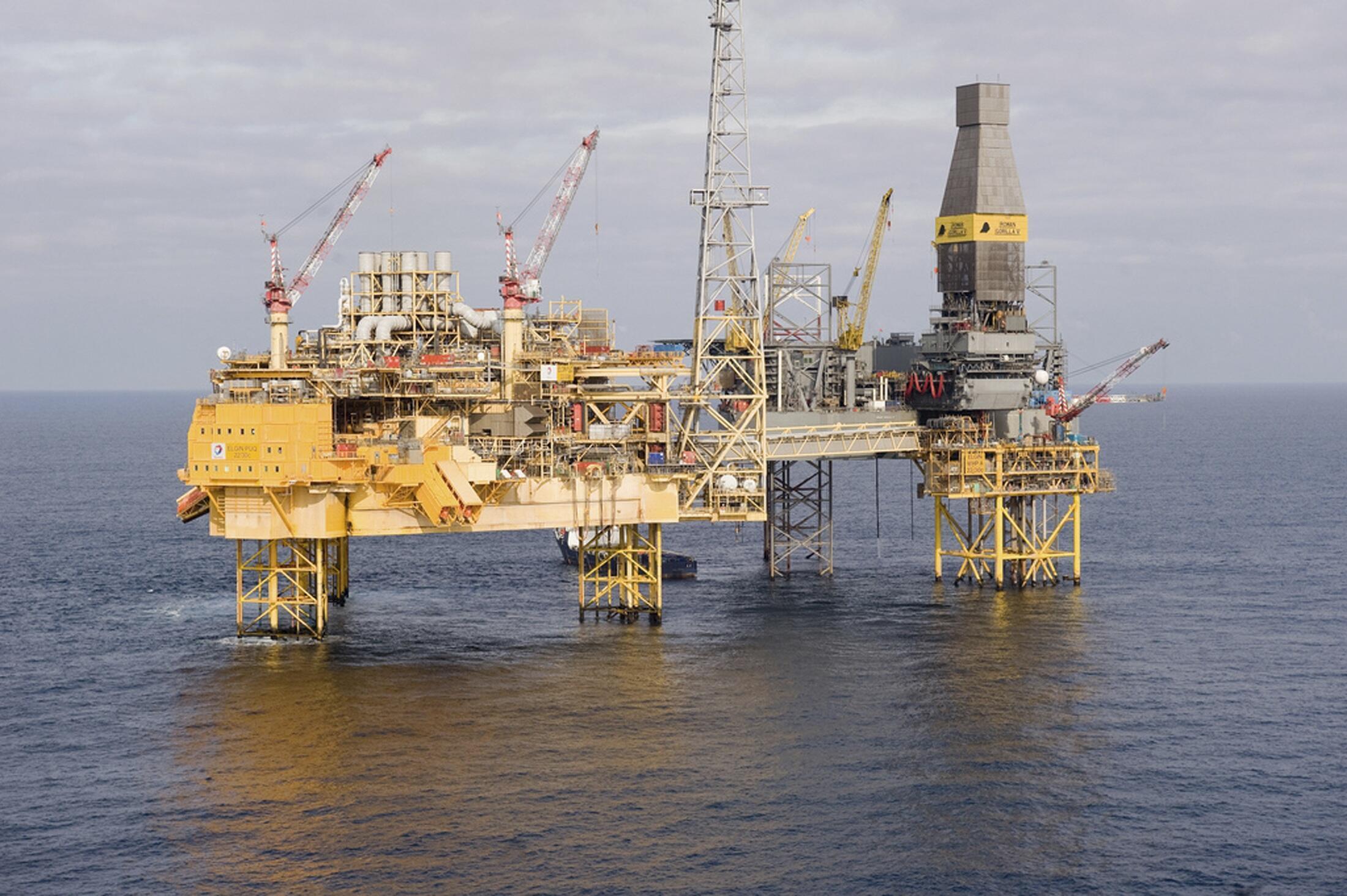 La plateforme d'Elgin en Mer du Nord.