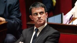 Le Premier ministre Manuel Valls à l'Assemblée nationale, le 15 juillet 2014