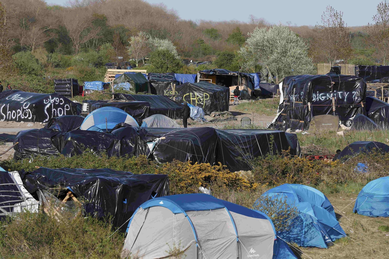 Migrant tents in Calais, April 30 2015