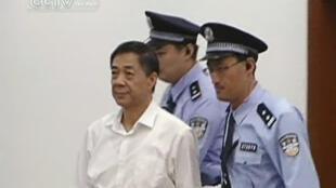 Bo Xilai au premier jour de son procès, le 22 août 2013.