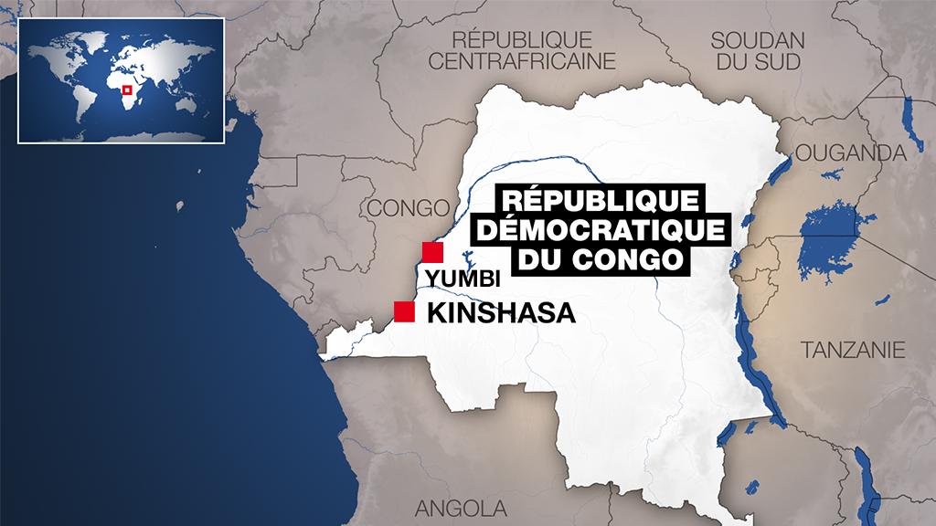 Yumbi se situe dans la région de Mai-Ndombe, en RDC.