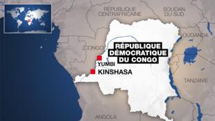 Yumbi inapatikana katika eneo la Mai-Ndombe, DRC.
