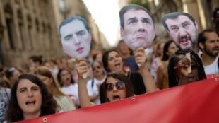 Manifestation de soutien à Open Arms le 13 juillet 2019 à Barcelone.