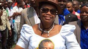 La députée nationale Ève Bazaiba Masudi, secrétaire générale du Mouvement de libération du Congo, MLC à Kisangani en RDC