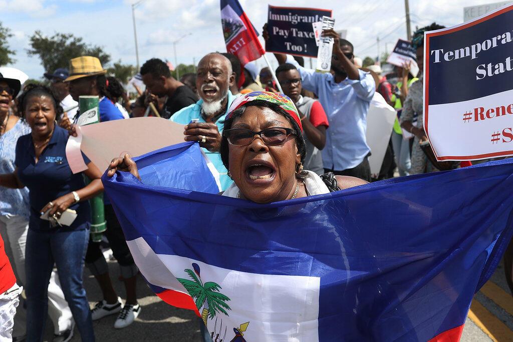 Manifestation contre la suppression du Temporary Protected Status pour les Haïtiens, le 13 mai 2017 à Miami.