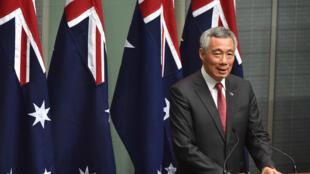 Thủ tướng Singapore Lý Hiển Long phát biểu trước Nghị viện Úc  tại Canberra ngày 1210/2016.