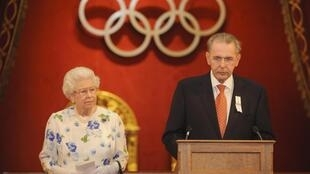 Жак Рогге и королева Елизавета, Букингемский дворец, 23 июля 2012 года
