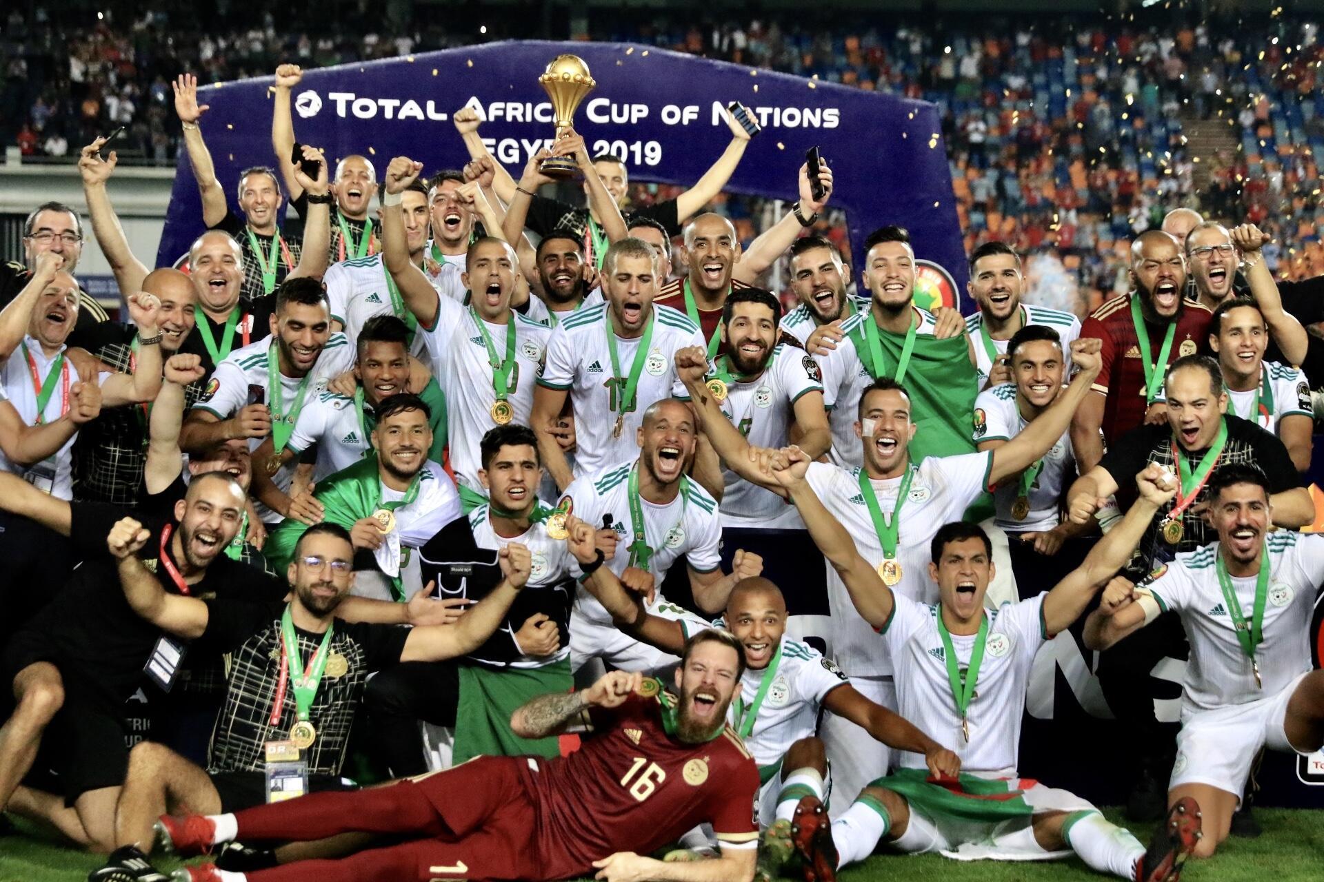 L'Algérie, vainqueur de la CAN 2019 en Egypte.