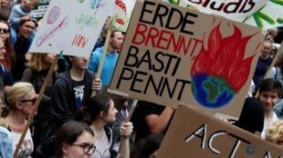 Manifestation de jeunes écologistes, le 27 septembre 2019 à Vienne (Autriche).
