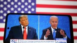 美國總統特朗普與民主黨總統候選人拜登資料圖片