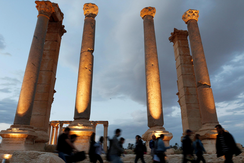 Khu thành cổ Palmyra, ngày 06/05/2016.