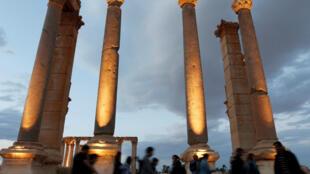 Site archéologique de Palmyre en 2016